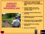 capacity building progress 2002