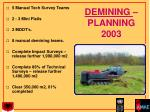 demining planning 2003