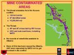 mine contaminated areas