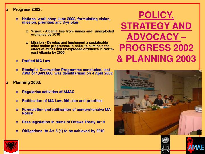 POLICY, STRATEGY AND ADVOCACY