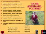 victim assistance planning