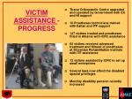 victim assistance progress
