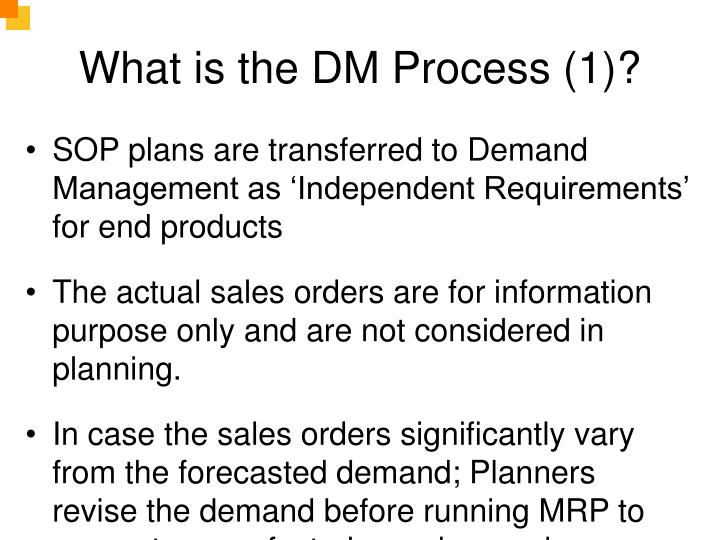 What is the DM Process (1)?