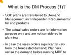 what is the dm process 1
