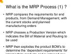 what is the mrp process 1