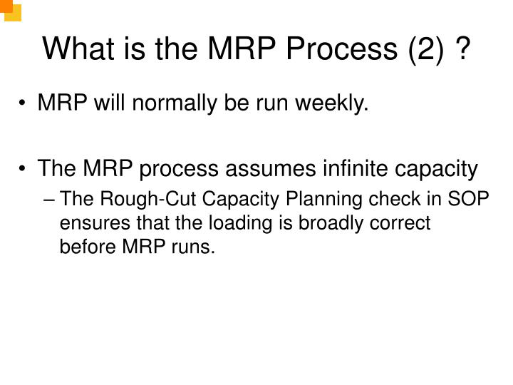 What is the MRP Process (2) ?