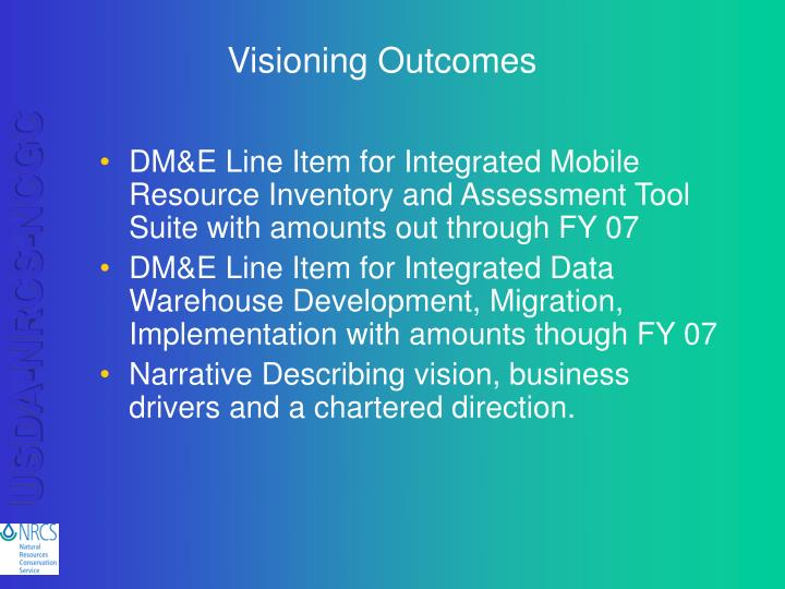 Visioning Outcomes