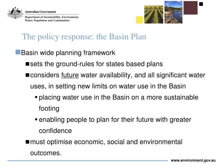 The policy response: the Basin Plan