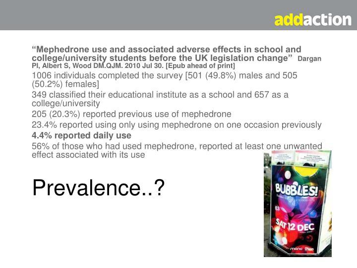 Prevalence..?