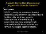 a mobility centric data dissemination algorithm for vehicular networks16
