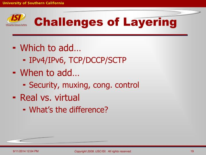 Challenges of Layering