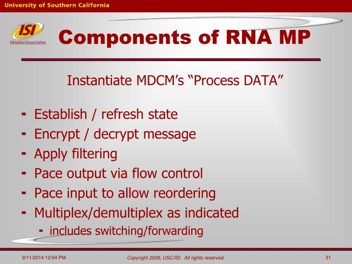 Components of RNA MP