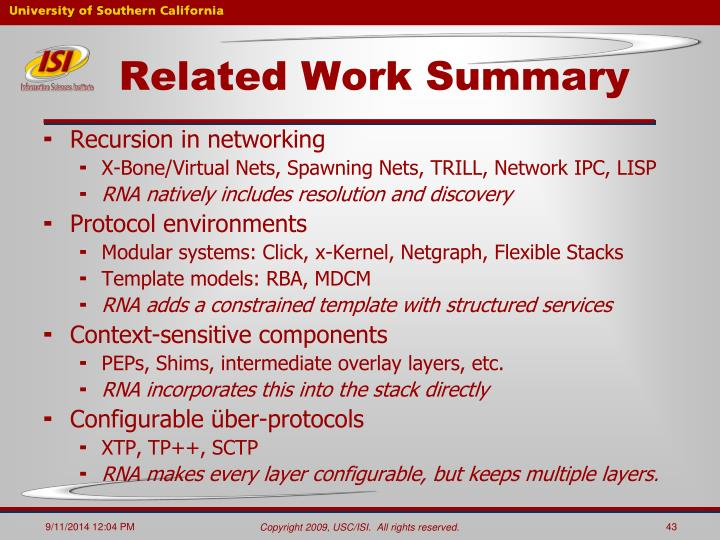 Related Work Summary