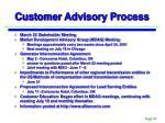 customer advisory process