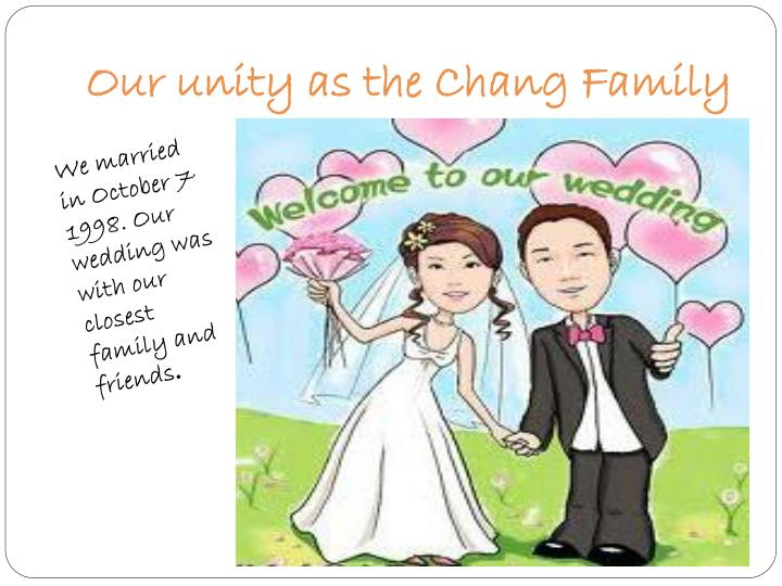 Our unity as the Chang Family