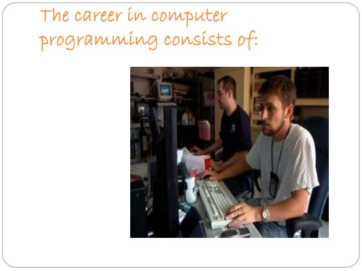 The career in computer programming consists of: