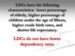 ldcs do not have lower dependency rates