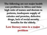 low literacy rates is a major problem