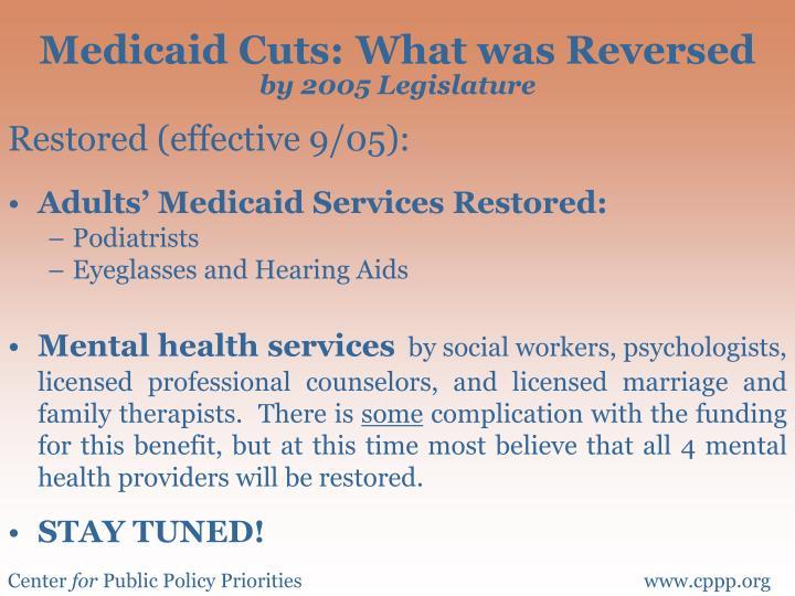 Medicaid Cuts: