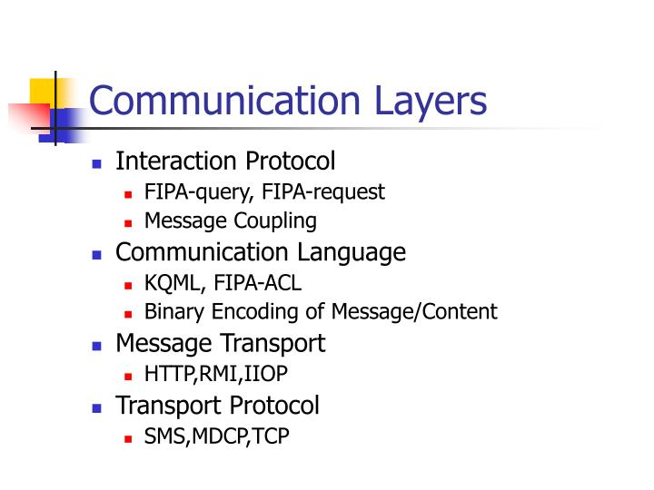 Communication Layers