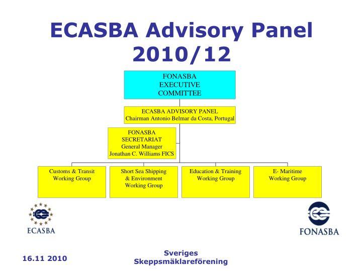 ECASBA Advisory Panel 2010/12