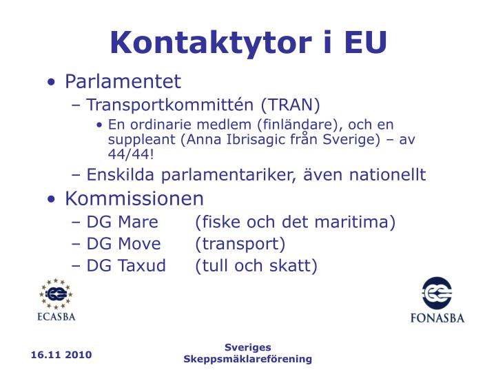 Kontaktytor i EU