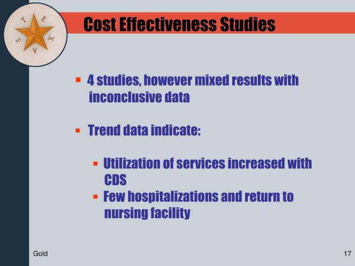 Cost Effectiveness Studies