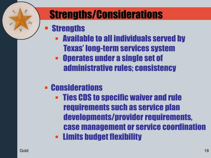 Strengths/Considerations