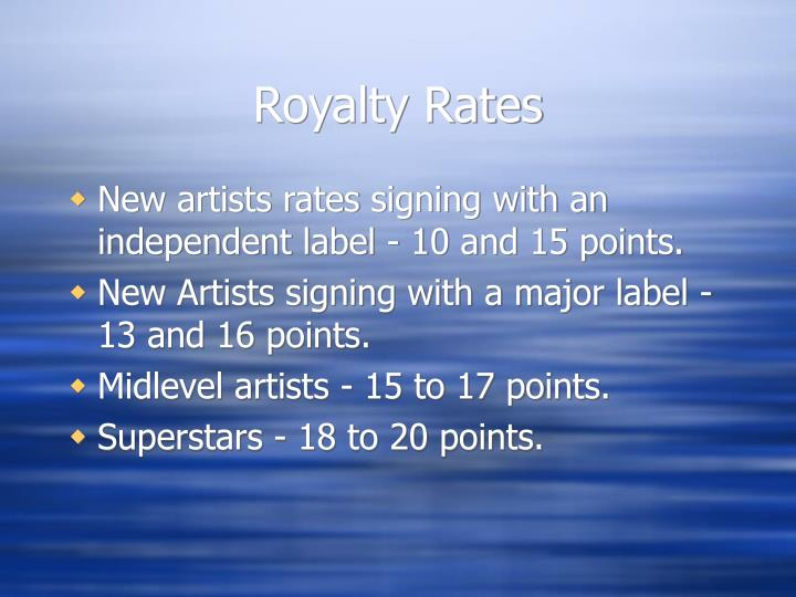 Royalty Rates