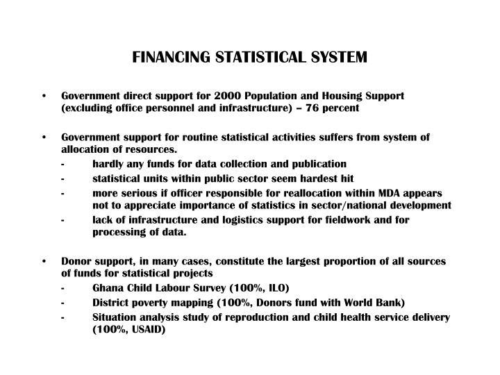 FINANCING STATISTICAL SYSTEM