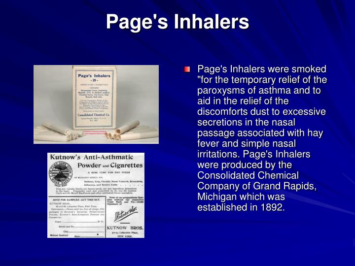 Page's Inhalers