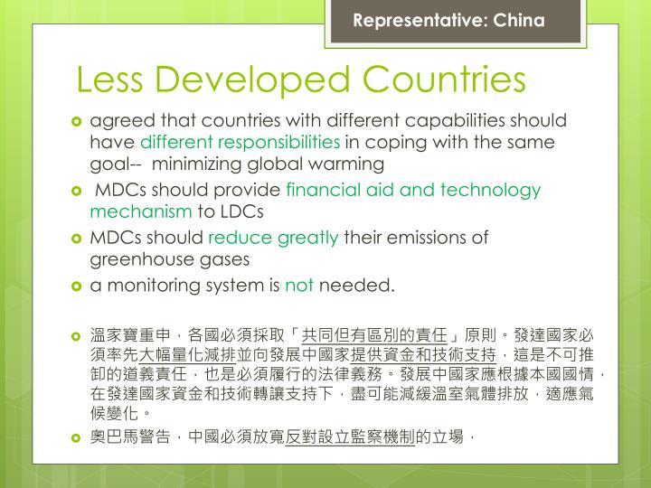 Representative: China