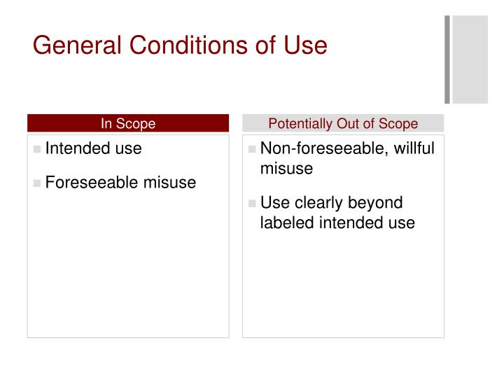 General Conditions of Use