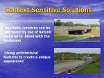 context sensitive solutions3