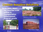 context sensitive solutions6