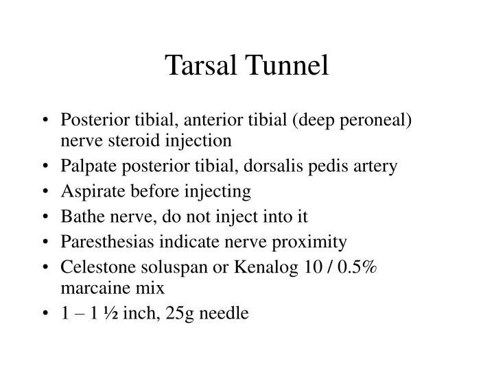 Tarsal Tunnel