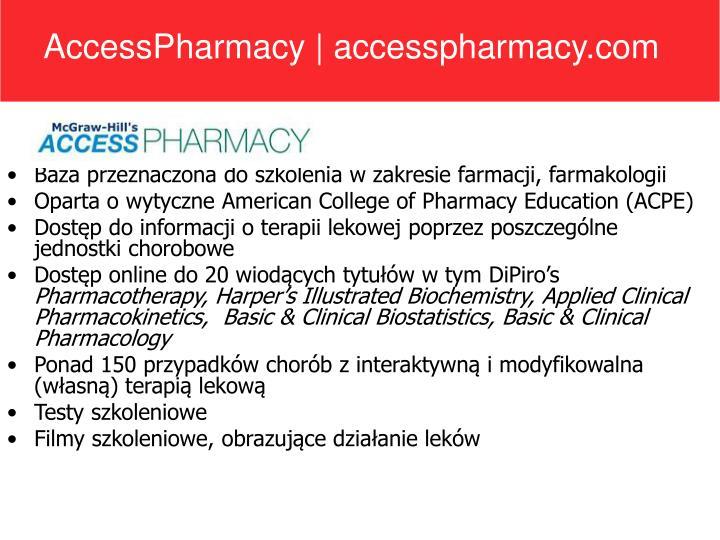 AccessPharmacy | accesspharmacy.com