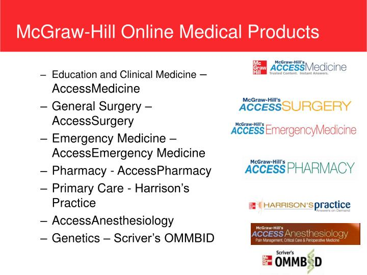 McGraw-Hill Online Medical Products
