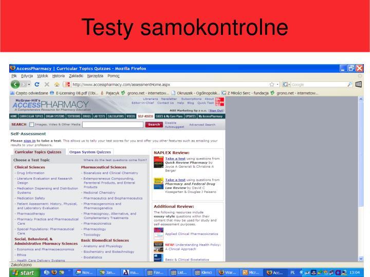 Testy samokontrolne