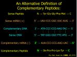 an alternative definition of complementary peptides