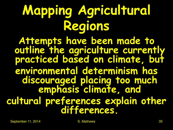 Mapping Agricultural Regions