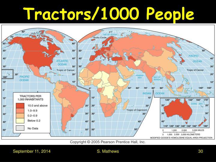 Tractors/1000 People