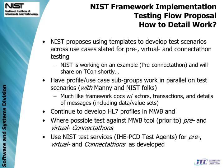NIST Framework Implementation