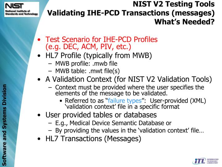 NIST V2 Testing Tools