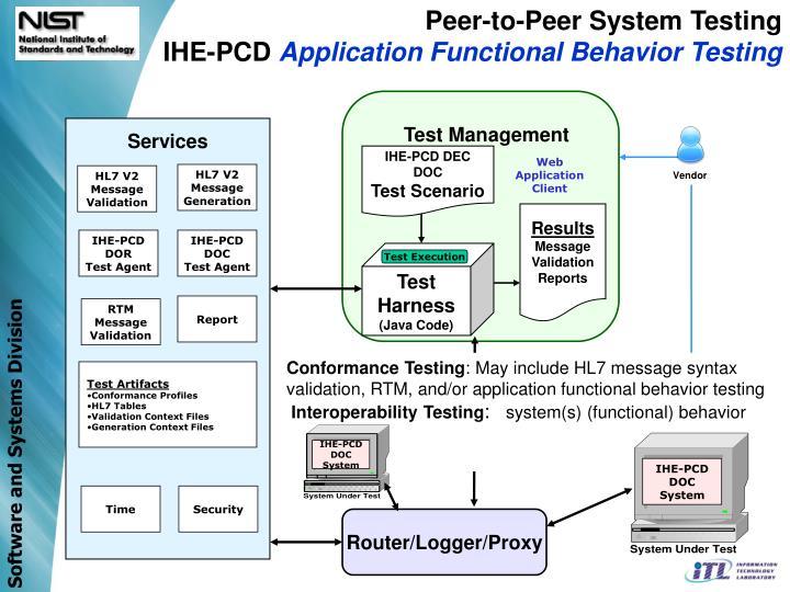Peer-to-Peer System Testing
