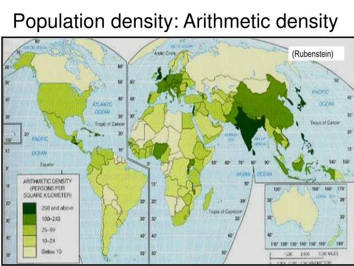 Population density: Arithmetic density