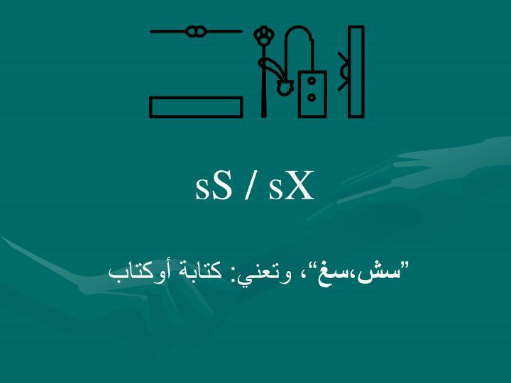 sS / sX