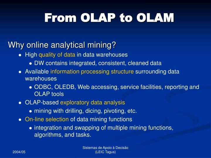 From OLAP to OLAM