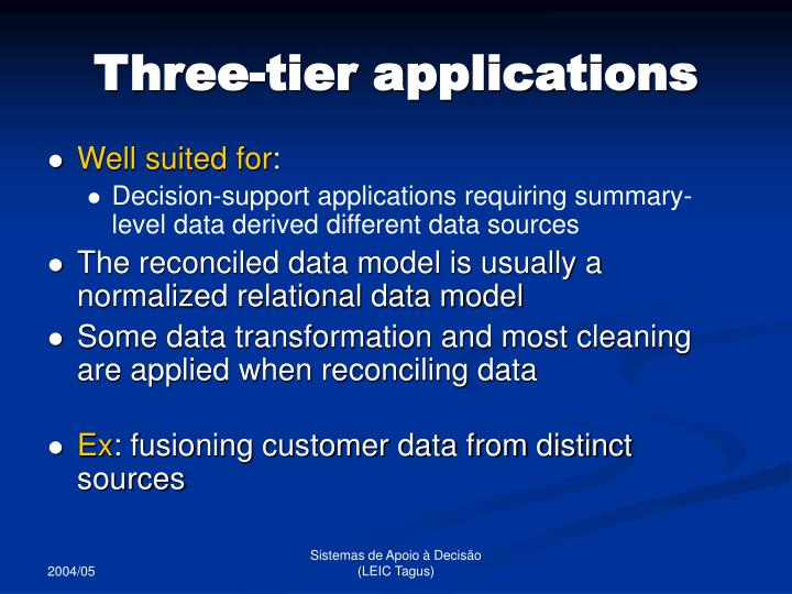 Three-tier applications