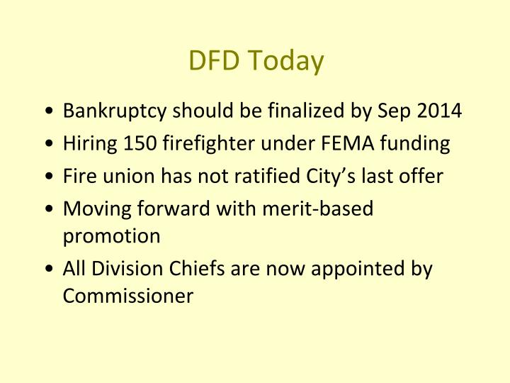 DFD Today